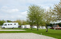 Camping Caravan Park Site Stock Photos