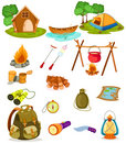Camping collection Stock Images