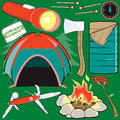 Camping Collection Royalty Free Stock Photography