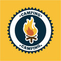 Camping design over orange background vector illustration Stock Image
