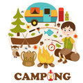 Camping elements and boy