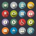 Camping flat icons Royalty Free Stock Photo