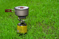 Camping gas-stove Royalty Free Stock Photo