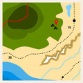 Camping geographic map