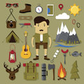 Camping and hiking set