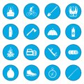 Camping icon blue