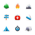 Camping icons Royalty Free Stock Photo