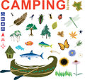 Camping Icons Vectors