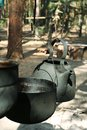 Camping kettle old in Royalty Free Stock Images