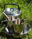 Camping kitchenware Royalty Free Stock Photo