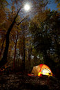 Camping at night Stock Photography