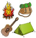 Camping objects collection 1 Royalty Free Stock Photos