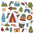 Camping objects Royalty Free Stock Photo