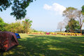 Camping place for at huaimaekamin kanchanaburi Stock Image