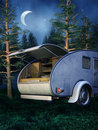 Camping place at night Royalty Free Stock Photo
