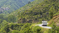 Camping rv on the move france auto camper vacation in provence Stock Photography