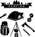 Camping set Royalty Free Stock Photo