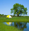 Camping in the summer Stock Photography