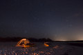 Camping in the ten thousand islands night with stars florida Royalty Free Stock Photos