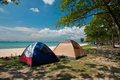 Camping Tents Royalty Free Stock Photo