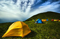 Camping tents Stock Images