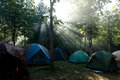 Camping tents at a camp site Royalty Free Stock Photo