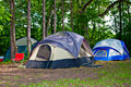 Camping Tents at Campground Stock Image