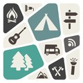 Camping theme abstract background Stock Photos