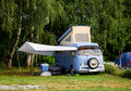 Camping vampir near to bran castle Stock Image