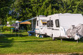 Camping vampir near to bran castle Royalty Free Stock Photos