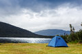 Camping in the wilderness new zealand Stock Photo