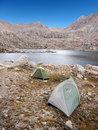 Camping in the wilderness two tents Stock Photography