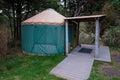 Camping yurt en la costa de oregon Fotos de archivo