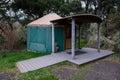 Camping yurt en la costa de oregon Foto de archivo