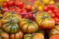 Campo de fiori ripe tomatoes in street market rome Stock Photography