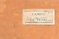 Campo de fiori sign of famous street market in rome Stock Photo