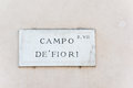 Campo de fiori sign of famous street market in rome Royalty Free Stock Images