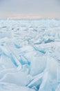 Campo de gelo rachado Fotos de Stock Royalty Free