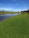 Campo de golfe sob a construção Fotografia de Stock