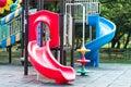 Campo de jogos das crianças em um parque Imagens de Stock Royalty Free