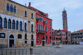 Campo manin venice square in veneto italy Stock Photography
