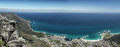 Camps bay cape town panoramic view of a suburb of south africa shot taken from the top of table mountain Royalty Free Stock Image