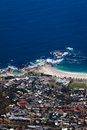Camps bay coastline view from table mountain beach cape town south africa Stock Photo