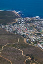 Camps bay coastline view from table mountain cape town south africa Stock Image