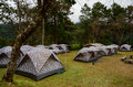 Campsite at doi phukha national park nan province thailand Stock Photo