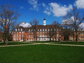 Campus building blue sky and tree a red brick illini union in the quad of university of illinois urbana champaign uiuc the illini Stock Images