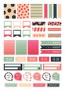 Bullet Journal Stickers sheet. Cute Digital printable sticker for journal. Royalty Free Stock Photo