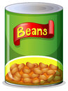 A can of beans Royalty Free Stock Photo