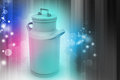 Can container for milk in color background Royalty Free Stock Photo