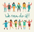 We can do it, vector background